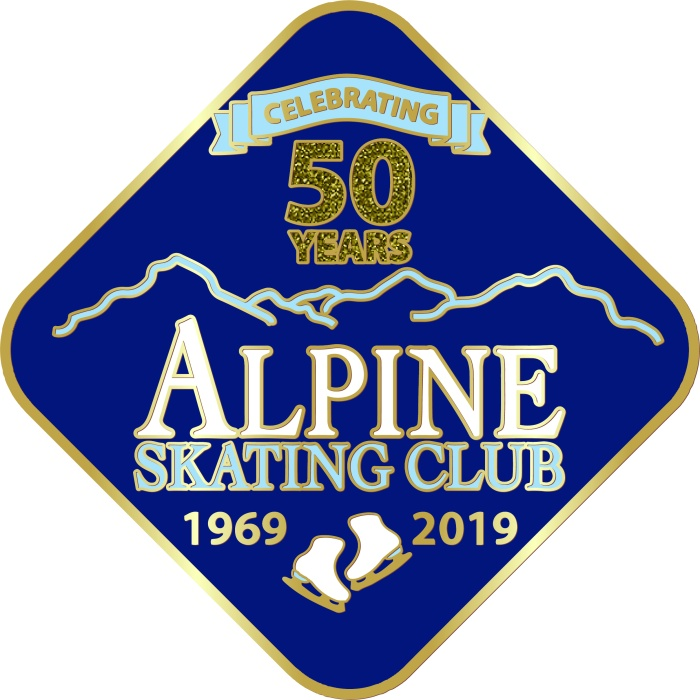 Alpine Skating Club 50th Pin LARGE
